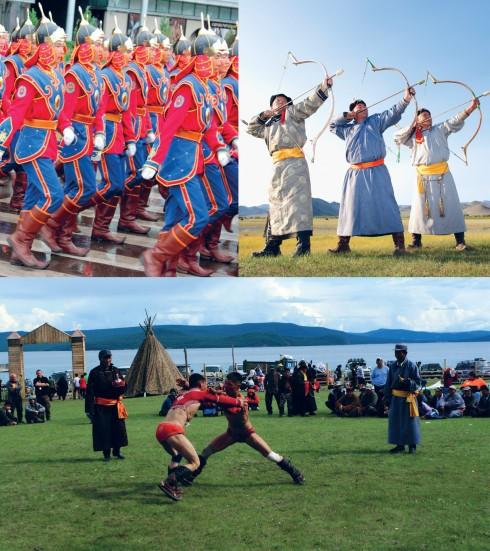 Tháng Bảy là mùa của lễ hội tại Mông Cổ. Bạn sẽ có cơ hội hòa mình vào trong tiếng cười giòn giã của người dân, xem những trận thi đấu vật và tìm hiểu về nền văn hóa truyền thống của người Mông Cổ.