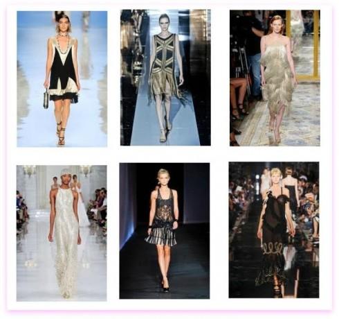 Cảm hứng váy flapper từ thập niên 20 trong bộ sưu tập Gucci, Marchesa, Etro và Ralph Lauren 2012