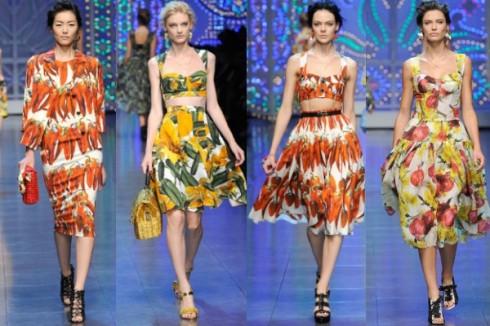 Bộ sưu tập Dolce & Gabbana Xuân Hè 2012 phảng phất chút vintage của những năm 1950.