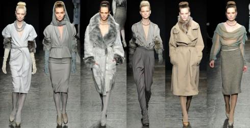Thời trang thập niên 40 với cầu vai to, eo nhỏ, thắt lưng mảnh đi kèm là cảm hứng sáng tạo cho nhà thiết kế Donna Karen trong bộ sưu tập Thu Đông 2011