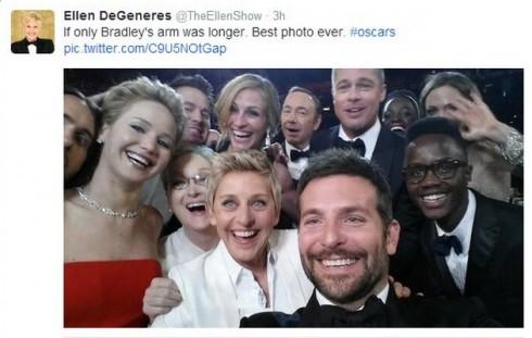 Ellen+tweet+oscars