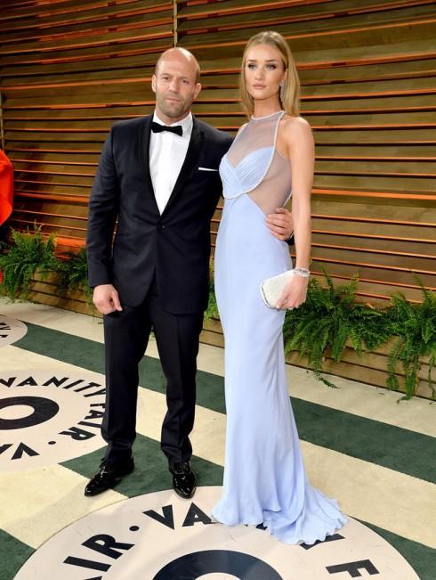 Thiên thần Victoria's Secret Rosie Huntington Whiteley đến cùng bạn trai - Jason Statham.