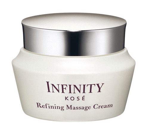 <strong>Mặt nạ massage Infinity - Kosé</strong><br /> Kem massage đậm đặc giàu dưỡng chất giúp các cơ mặt mềm mại và xóa tan sự mệt mỏi. Da sẽ trở nên săn chắc và đàn hồi hơn. Sử dụng 2 lần/tuần sau khi rửa mặt hoặc tẩy tế bào chết, lấy 1 lượng kem cỡ trái sơri thoa đều và massage khắp mặt. Rửa lại với nước hoặc dùng khăn giấy lau sạch lớp kem thừa. (1.700.000 VNĐ)