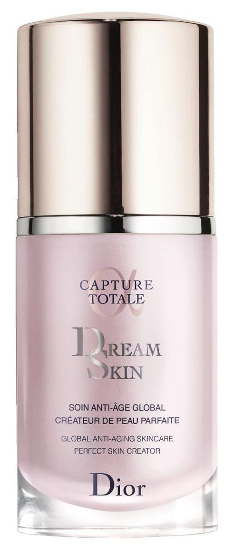 <strong>Dream Skin – Dior </strong><br />  Serum giúp hiệu chỉnh những vấn đề của da: đốm nâu, lỗ chân lông to, nếp nhăn, tình trạng mất độ săn chắc… nhờ phức hợp Longoza Cellular tác động lên cả 3 lớp biểu bì, thân bì và hạ bì. Có thể sử dụng thay kem dưỡng hoặc sau kem dưỡng đối với da khô và khí hậu lạnh khô.