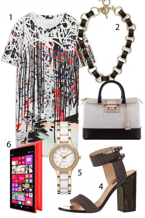 Thứ 3: Nếu như bạn gặp khó khăn trong việc chọn lựa trang phục mỗi ngày, một chiếc váy đơn giản luôn là sự lựa chọn tuyệt vời!<br/>1. ZARA 2. BANANA REPUBLIC 3. FURLA 4. TOPSHOP 5. DKNY 6.  NOKIA LUMIA 1320 (7.499.000 VNĐ)