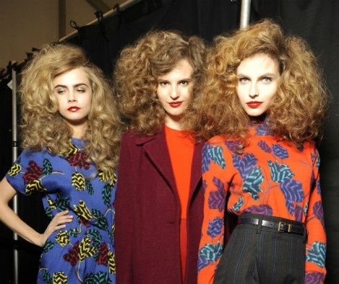 beautiful blow-outs at Diane Von Furstenburg  AW13 Fashion Shows!