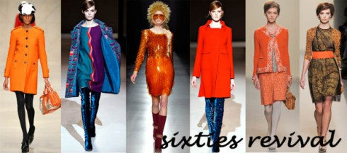Sàn catwalk Thu Đông 2011 tràn ngập những thiết kế mang hơi hướng thập niên 60: vai cocoon, dáng váy shift, váy tulip, tóc xù tổ ong, ...