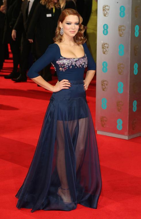 Năm 2014 - Cô nổi bật tại Lễ trao giải British Academy Film Awards