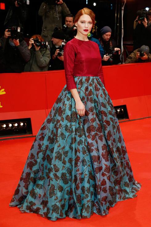 Năm 2014 - Léa chọn đầm dạ hội Prada khi tham dự Liên hoan Phim Berlin.