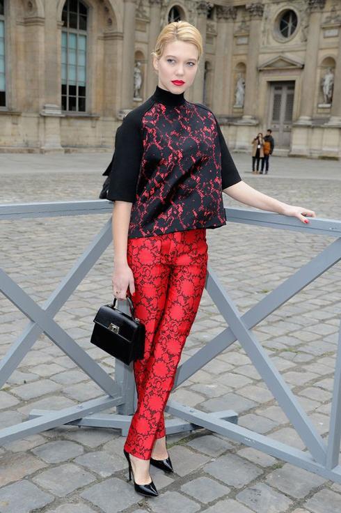 Léa tại show Louis Vuitton, Tuần lễ thời trang Paris 2013