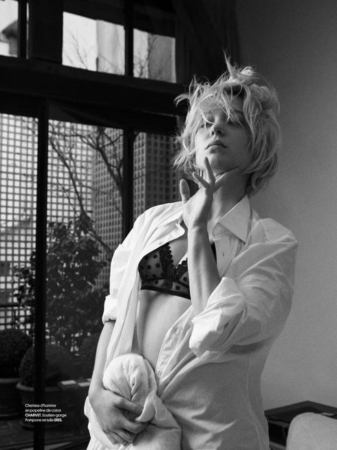 Léa chụp cho tạp chí Obsession năm 2013