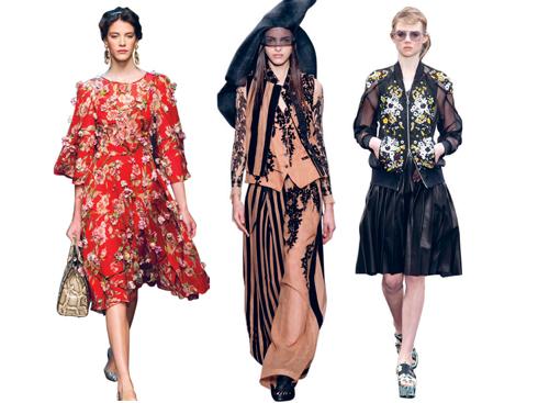 Dolce & Gabbana, Demeulemeester, Erdem