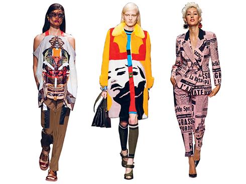 Givenchy, Prada, Moschino