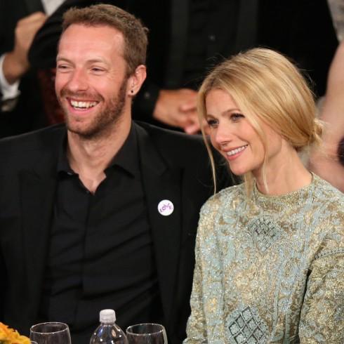 Gwyneth Paltrow và Chris Martin tại lễ trao giải Quả cầu vàng 2014