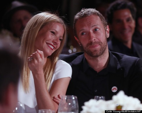 Gwyneth Paltrow và Chris Martin tại Beverly Hills, California ngày 11/1