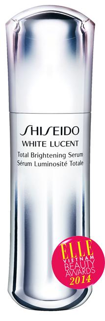 <strong> 4. White Lucent Total Brightening Serum - SHISEIDO</strong> <br /> Tinh chất giúp mang lại làn da trắng tinh khiết với hiệu quả làm sáng 5 lớp da nhờ thành phần mới ProBright 4MRTM và Resveratrol. Kết cấu nhẹ, ẩm mượt giúp thấm nhanh từ bề mặt da vào sâu bên trong làn da. Vừa dưỡng ẩm, làm mịn, dưỡng trắng và cải thiện tuần hoàn máu cho da. 2.100.000 VNĐ/30ml