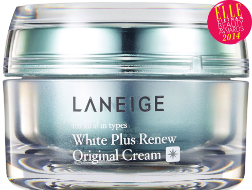 <strong>8. White Plus Renew Original Cream - LANEIGE</strong><br /> Kem dùng cho ngày và đêm, với công nghệ Mela-CrusherTM (được cấp 3 bằng sáng chế tại Hàn Quốc) giúp kích hoạt cơ chế tự phân hủy các melanin dư thừa, điều chỉnh các sắc vàng, đỏ và đen sạm – 3 yếu tố gây ra tình trạng da không đều màu. Kết quả cho thấy sự cân bằng sắc tố khiến làn da trắng dần lên trông thấy và trở nên rạng rỡ, mềm mịn gấp 2 lần. Hiệu quả dưỡng ẩm cao. 1.200.000 VNĐ