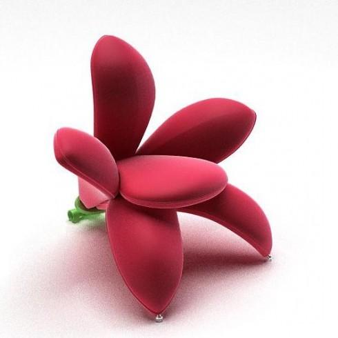 Ghế cách điệu hình các loài hoa thường được thiết kế theo phong cách mềm mại, vì thế sẽ luôn mang đến cho bạn cảm giác êm ái, dễ chịu khi ngồi.
