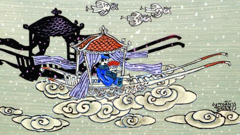 Minh họa truyện Từ Thức gặp tiên