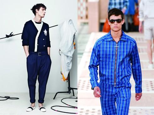 Từ trái qua: Balmain, Louis Vuitton