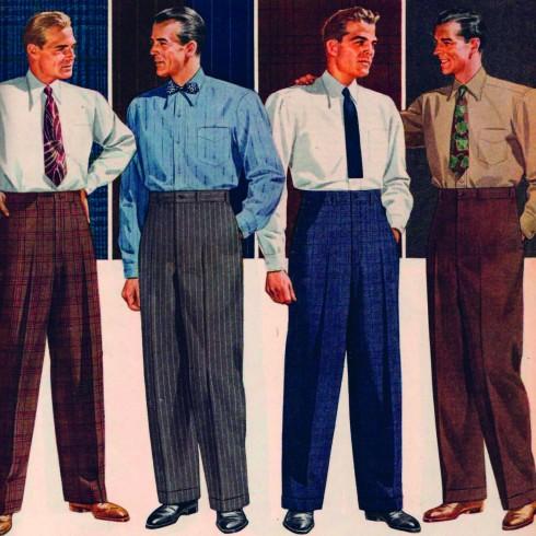 Chiếc quần Âu thuở sơ khai - cho tới nay, các kiểu quần liên tục được làm mới với những biến tấu giúp người mặc trông trẻ trung và thoải mái hơn.