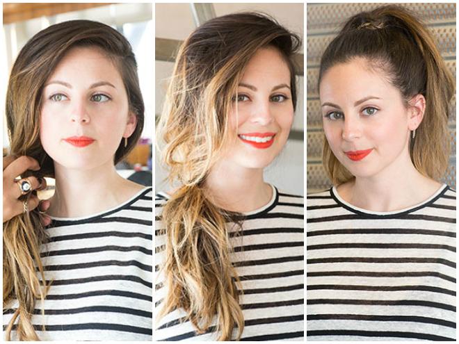 3 kiểu tóc đuôi ngựa đơn giản