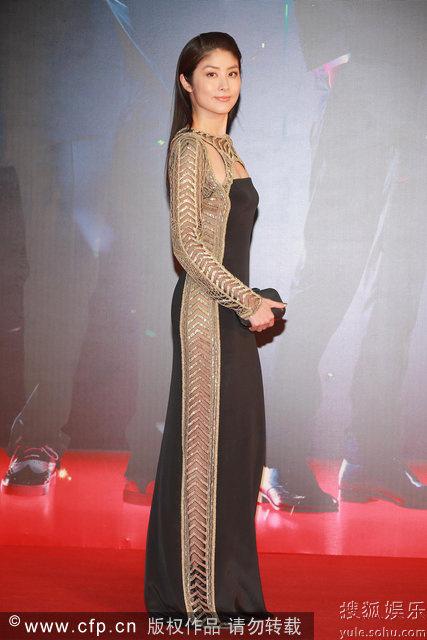 Trần Tuệ Lâm trong trang phục Emilio Pucci