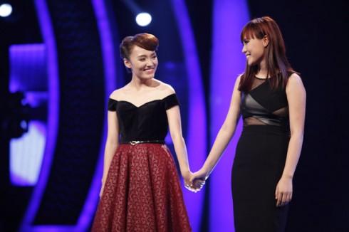 Nhật Thủy và Phương Linh là 2 thí sinh hát sing-off trong đêm công bố kết quả Gala 6