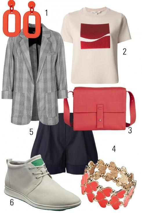 Thứ 6: Năng động với giày kiểu dáng thể thao và túi đeo chéo<br />1.TOPSHOP 2. MARCJACOBS 3.ECCO 4.OASIS 5. 3.1 PHILLIP LIM 6.ECCO