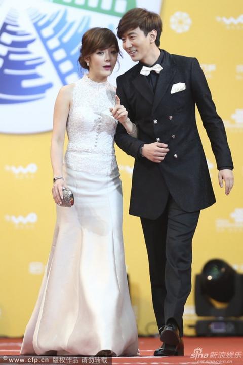 Nữ diễn viên Hàn Quốc Chae Rim và người tình Cao Tử Kỳ.