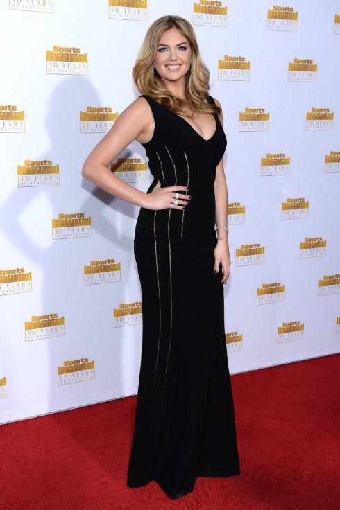 Kate Upton mặc chiếc đầm của Antonio Berardi tại 1 sự kiện đầu tháng 2/2014.