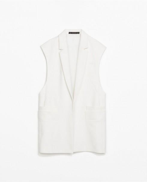 7. Zara <br/>Nếu yêu thích những chiếc áo trắng đơn giản, bạn có thể tham khảo mẫu của Zara.