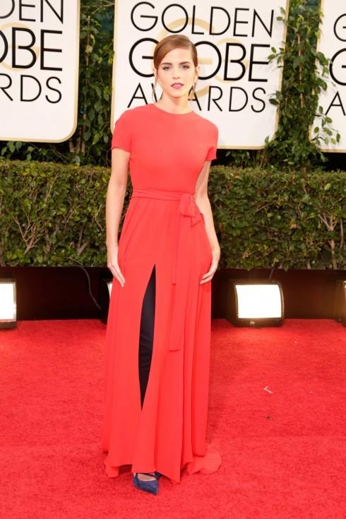Emma Watson diện bộ đồ của Christian Dior tại lễ trao giải Quả cầu vàng 2014.