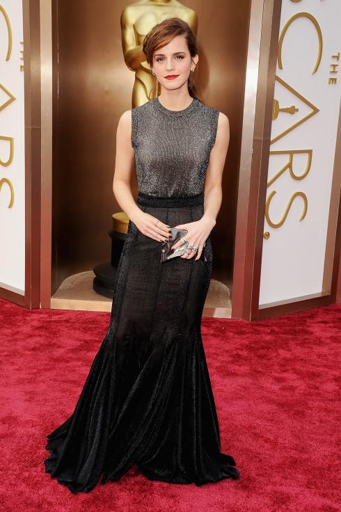 Emma Watson diện đầm Vera Wang tại lễ trao giải Oscar 2014.