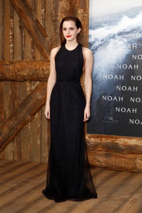 Emma Watson diện đầm Wes Gordon tại buổi quảng bá phim Noah ở Đức.