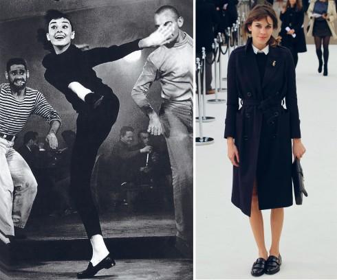 Audrey Hepburn và Alexa Chung