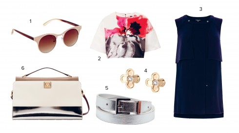 1.Warehouse 2.Topshop 3.Warehouse 4.Karen Millen 5.Gap 6.Furla