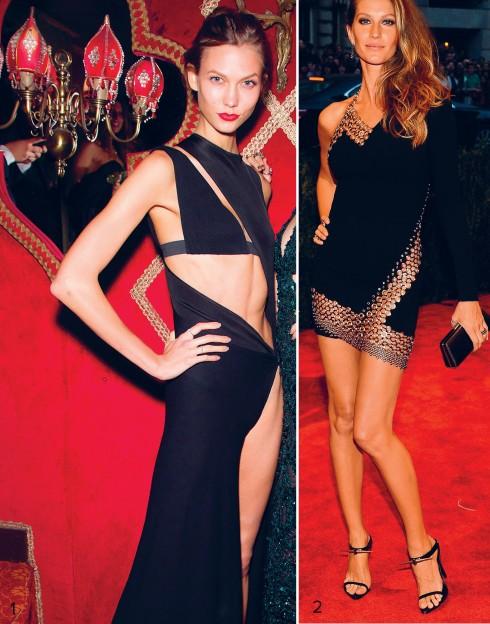 1.Karlie Kloss trong chiếc váy gây xôn xao của Anthony Vaccarello 2.Gisele Bundchen và chiếc đầm gợi cảm Anthony Vaccarello