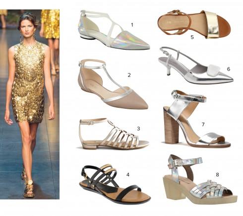 Người mẫu: Dolce&Gabbana 1.Charles&Keith 2.Nine West 3.Steve Madden 4.Pedro 5.Gap 6.Nine West 7.Coach 8.Topshop