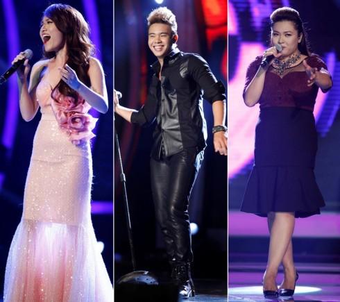 Top 3 Vietnam Idol trong đêm Gala 7