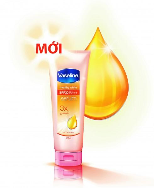 Tinh chất dưỡng thể Vaseline Serum SPF 30 PA++ mới, giúp dưỡng trắng và chống nắng gấp 30 lần