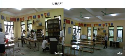 Cải tạo thư viện cho nhà trường