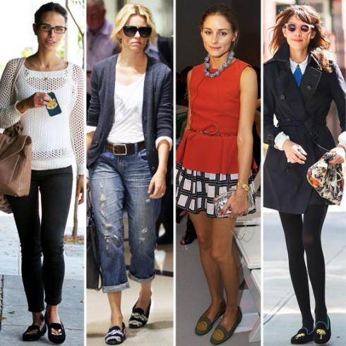 Sao Hollywood cũng mê mẩn Loafers: Jordana Brewster, Elizabeth Banks, Olivia Palermo, và Alexa Chung