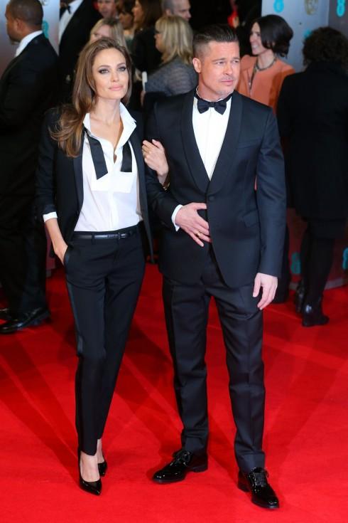 Cuối tháng 2/2014, Angelina Jolie xuất hiện tại sự kiện BAFTAs 2014 để ủng hộ cho bộ phim '12 Years a Slave' của Brad Pitt