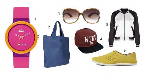 1.Lacoste 2.Ecco 3.Mango 4.Nike 5.Topshop 6.Ecco