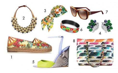 1.Dolce & Gabbana 2.Louis Vuitton 3.Eugenia Kim 4.Cartier 5.Dior 6.Hermès 7.Cartier 8.Chanel