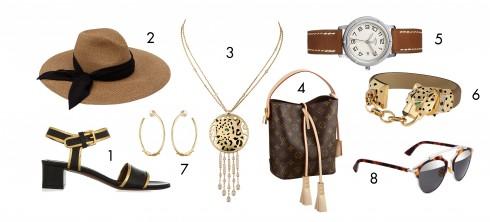 1.Marni 2.Eugenia Kim 3.Cartier 4.Louis Vuitton 5.Hermès 6.Cartier 7.Cartier 8.Dior