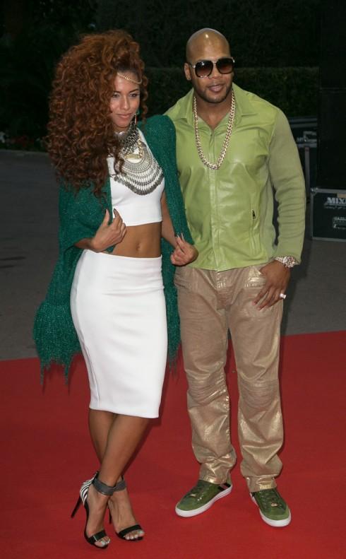 Flo Rida và Natalie La Rose trên thảm đỏ