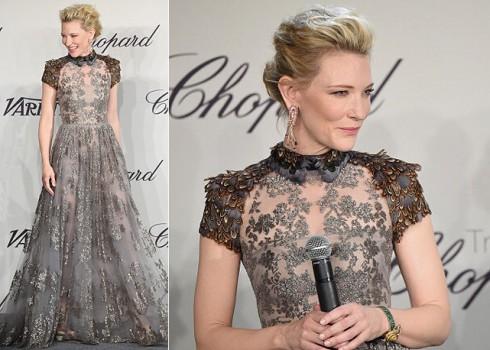 """<strong>Cate Blanchett</strong> <br><br> Có rất nhiều ngôi sao nữ theo đuổi phong cách sang trọng và quý phái nhưng ít ai có thể đạt được mức độ hoàn hảo như Cate Blanchett. Tài sắc vẹn toàn, Cate đã từng được nhận cả hai giải """"Woman of the year"""" và """"Best Actress"""" do ESA trao tặng.  <br><br> Cate Blanchett luôn trung thành với phong cách và những tên tuổi thiết kế lớn đã góp phần làm nên hình ảnh sang trọng không tì vết của cô như Giorgio Armani, Ricardo Tisci của  Givenchy hay Sarah Burton của Alexander Mcqueen."""