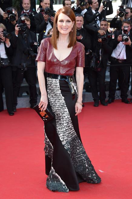 Julianne Moore trong thiết kế Louis Vuitton